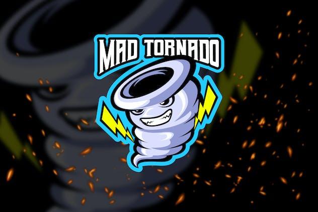Mad Tornado - Esport Logo Template