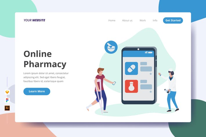 Thumbnail for Online Pharmacy - Landing Page