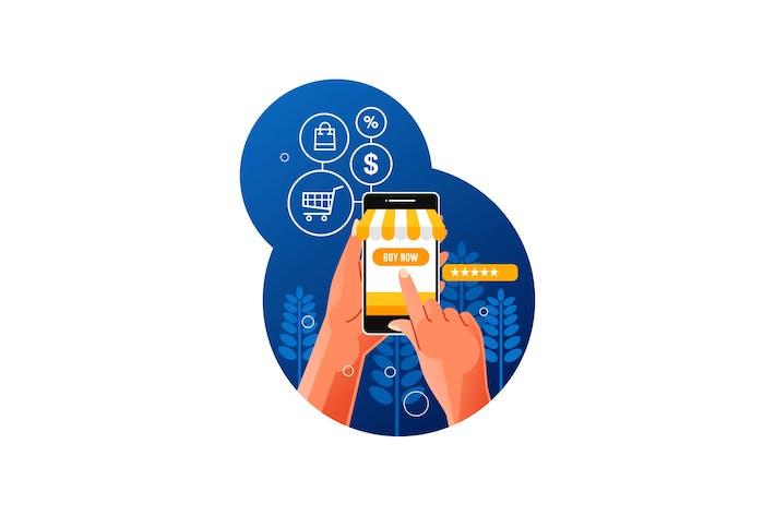 Thumbnail for Онлайн-покупки с помощью смартфона