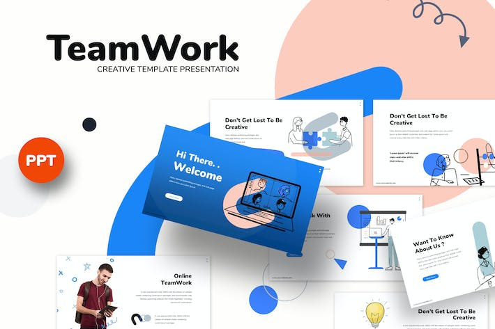 Thumbnail for Teamwork - Business Powerpoint Template