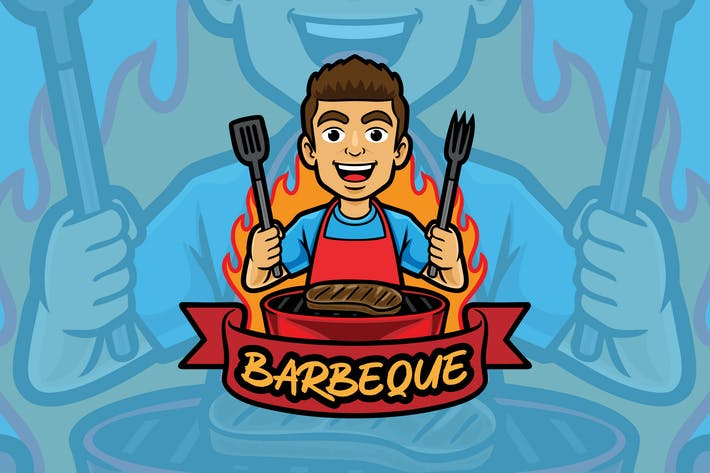 Thumbnail for Logo BBQ - Mascotte
