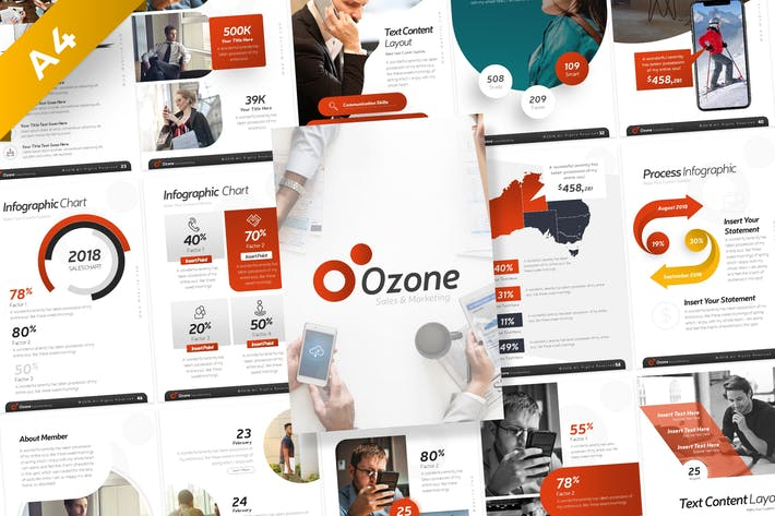 Thumbnail for Ozone Sales & Marketing Portrait PowerPoint