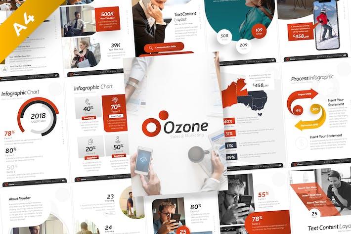 Ozone Sales & Marketing Portrait PowerPoint