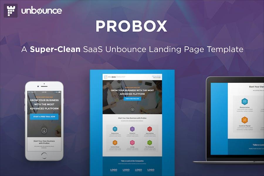 ProBox - Шаблон целевой страницы SaaS Unbounce