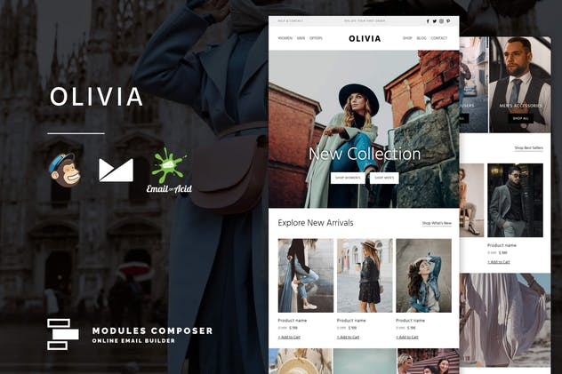 Olivia - E-commerce Responsive Email Template