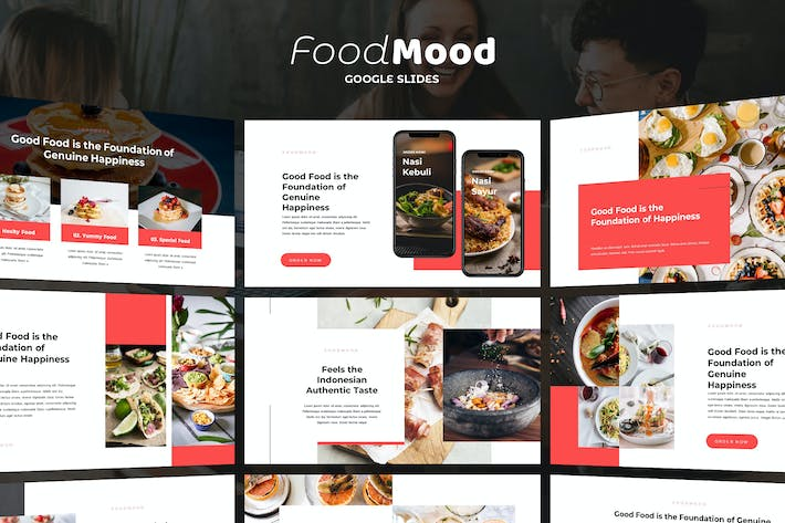 Thumbnail for FoodMood - Google Slides Template