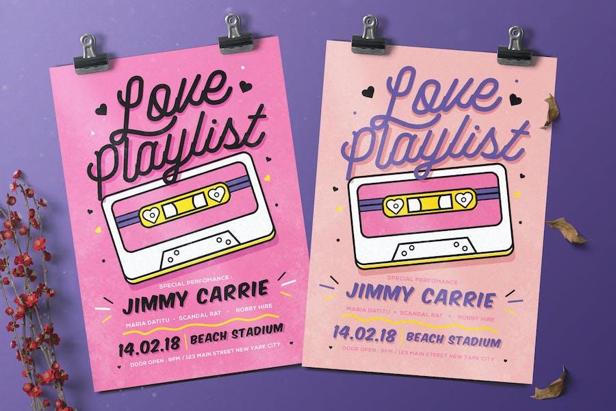 Valentine Music Flyer