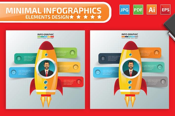 Thumbnail for Rocket Infografiken Design