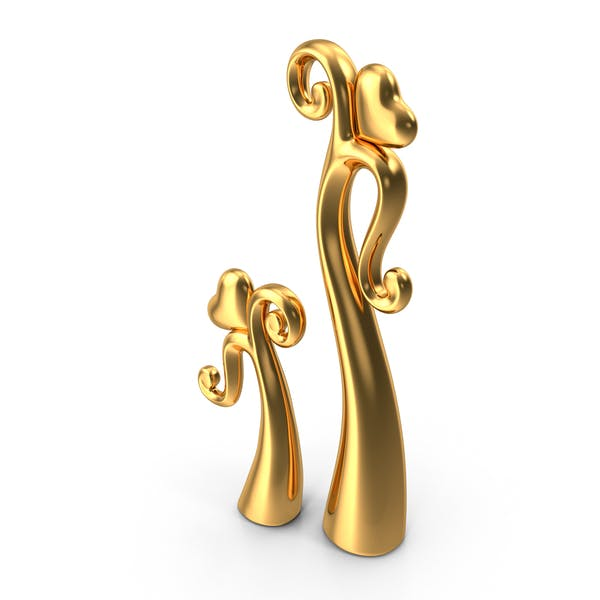Cover Image for Gold Dancing Heart Sculpture
