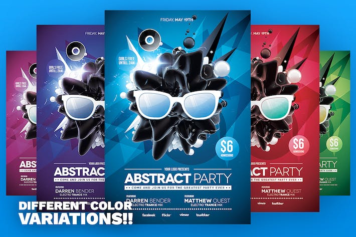 Thumbnail for Abstract Party Flyer Template