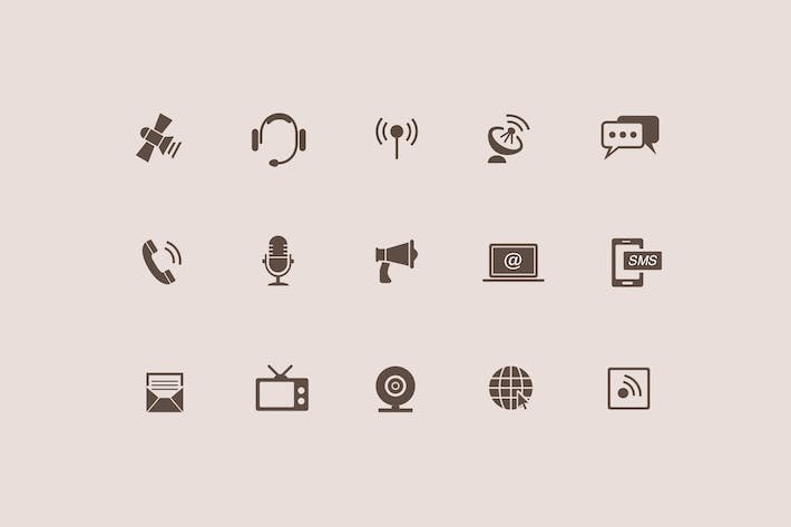 Thumbnail for 15 Communication and Audio Icons