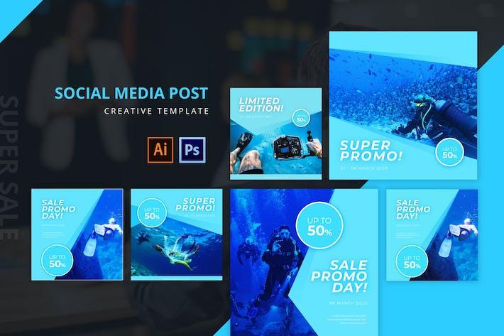 Thumbnail for Modèle de publication sur les médias sociaux Super Promo