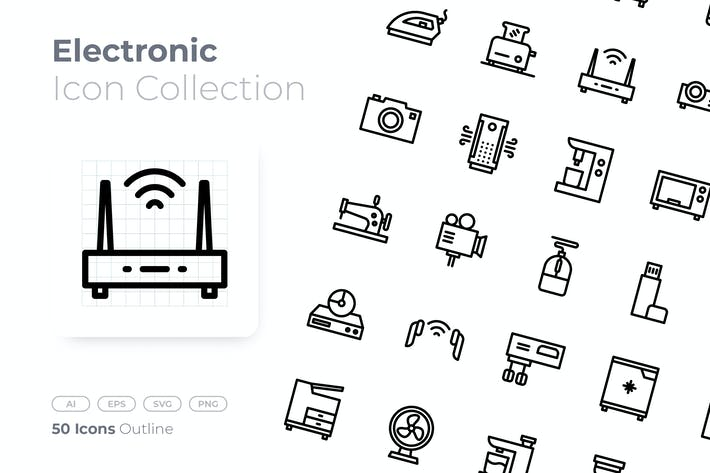 Thumbnail for Electronic Outline Icon