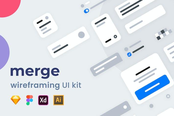 Thumbnail for Merge Wireframing UI Kit