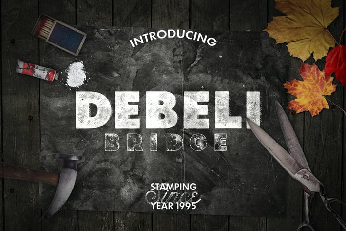 Thumbnail for Debeli Typeface