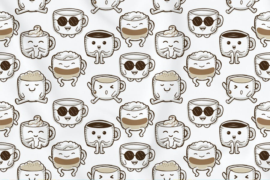 Cute Coffee Seamless Pattern