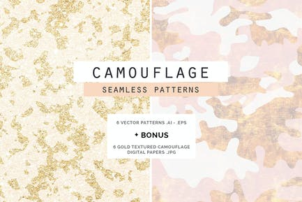 Camouflage Glam Patterns + Papers