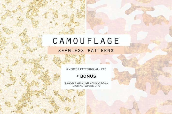 Cover Image For Camouflage Glam Patterns + Papiers