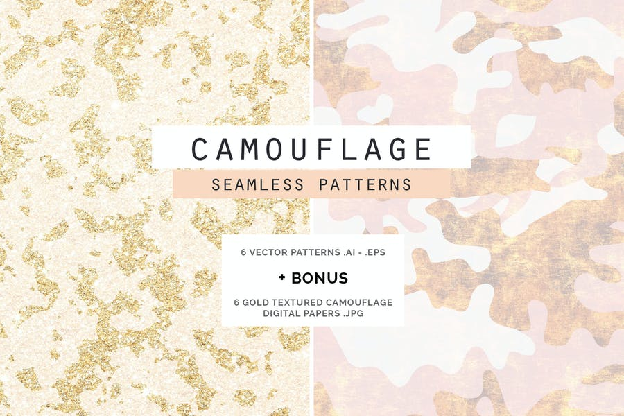 Camouflage Glam Pattern+Papiere
