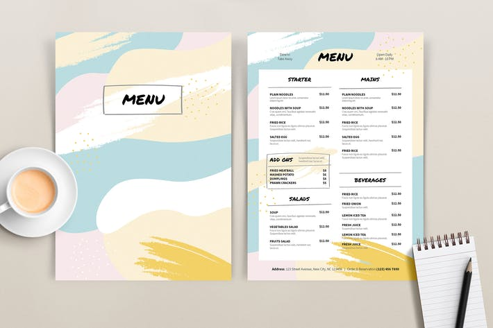 Thumbnail for Colored Menu Template
