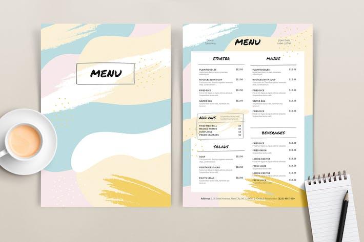 Thumbnail for Modèle de menu coloré