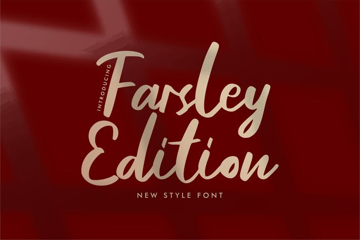 Thumbnail for Farsley Edition New Style Font