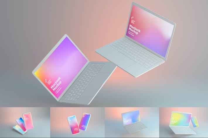 Thumbnail for Light Leaks Iphone and MacBook Mockups