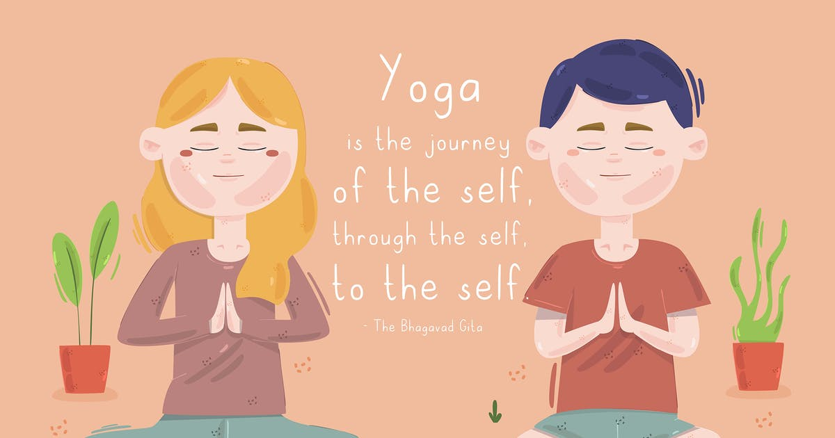 Download People Doing Yoga Illustration by april_arts