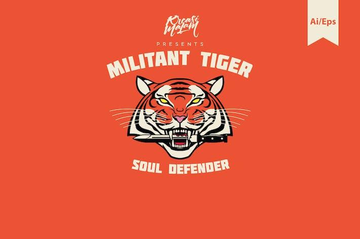 Thumbnail for Militant Tiger Logo Template