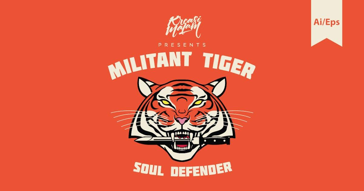 Download Militant Tiger Logo Template by Ijajil