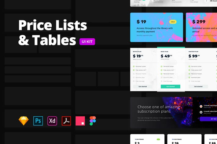 Thumbnail for Price Lists & Tables – Multi-format UI Kit