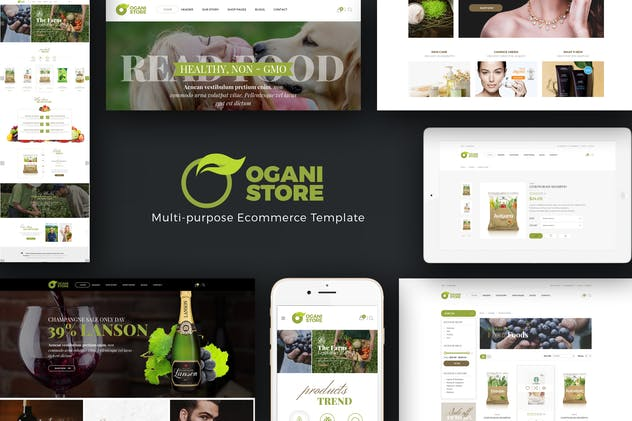 Ogani - Organic, Food, Pet, Alcohol Prestashop - product preview 0