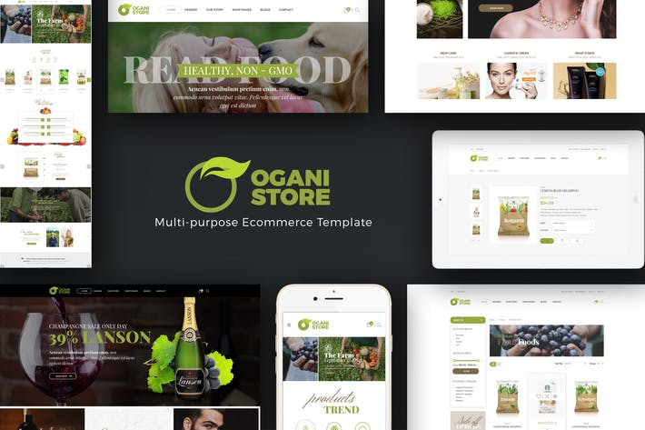 Thumbnail for Ogani - Organic, Food, Pet, Alcohol Prestashop