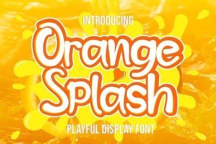 Naranja Splash - Fuente de verano fresca