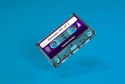 Clear Cassette Tape Mockup