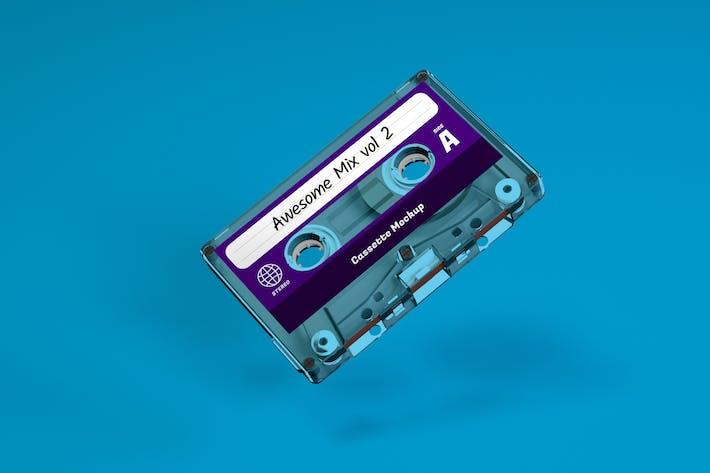 Thumbnail for Clear Cassette Tape Mockup