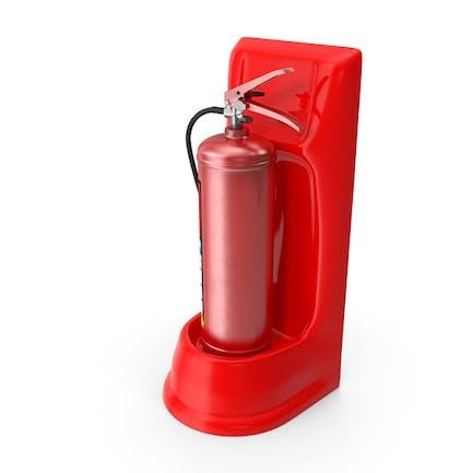 Single Fire Extinguisher Fiberglass Stand Set