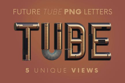 Future Tube - 3D Lettering