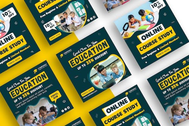 Education Social Media Banner Template