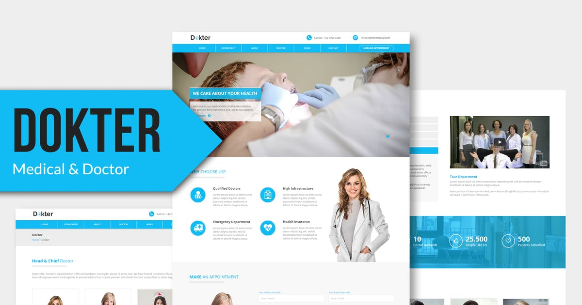 Download Dokter - Medical Muse Template by Rometheme