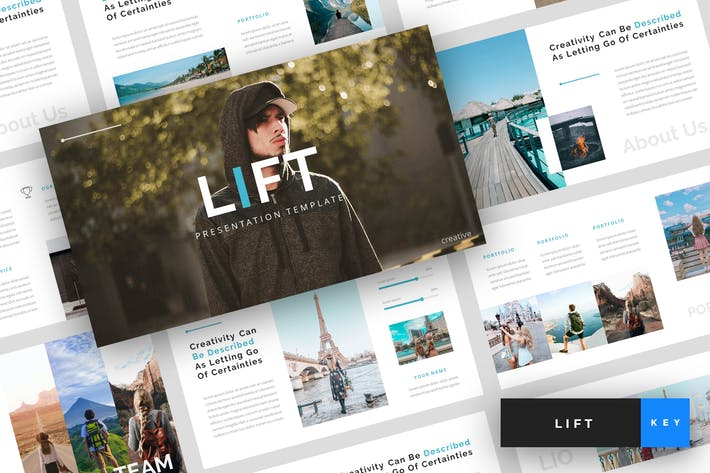 Cover Image For Lift - Creative Keynote Template