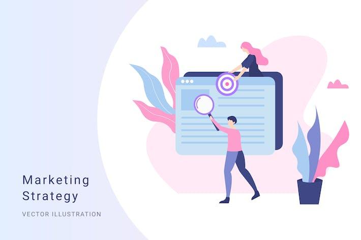Thumbnail for Marketing Vector Illustration