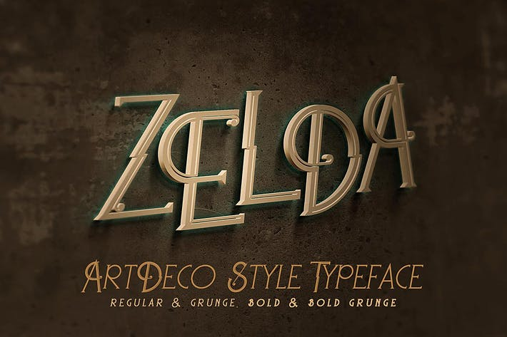 Thumbnail for Zelda - ArtDeco Font