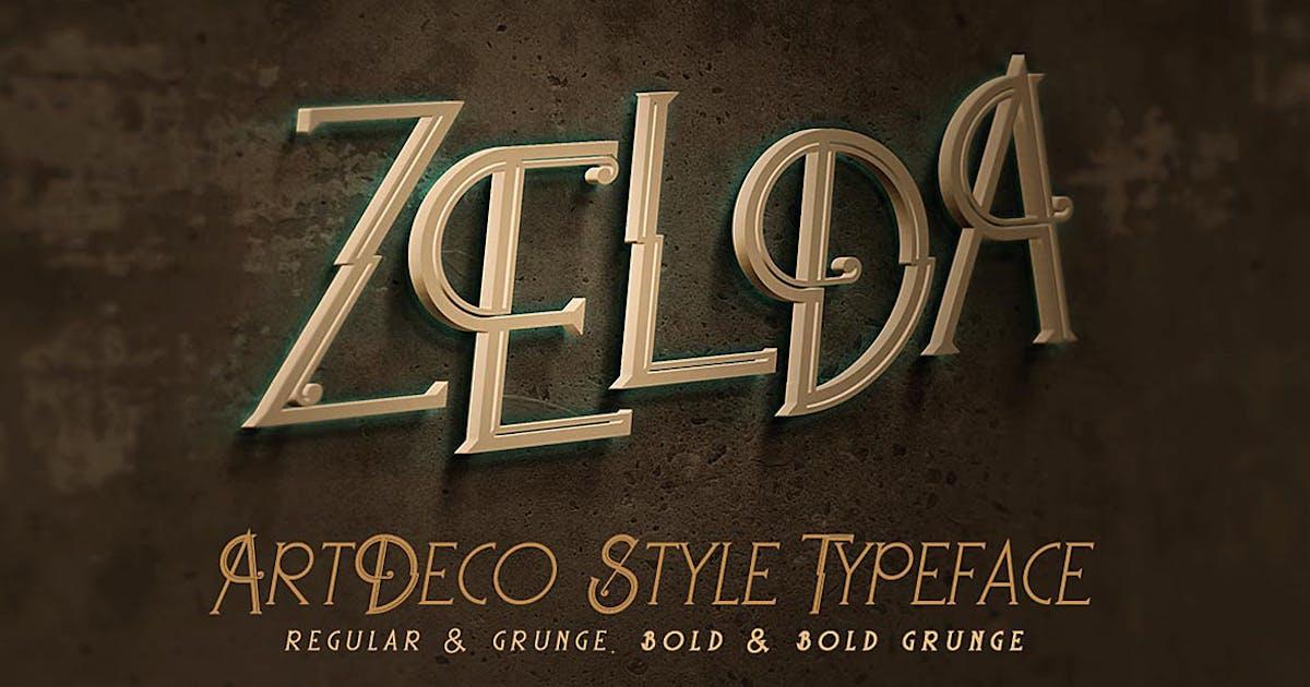 Download Zelda - ArtDeco Font by cruzine