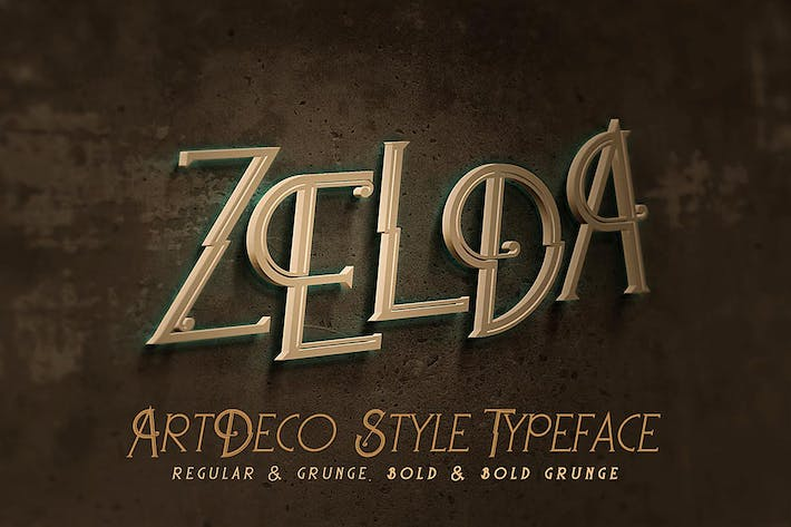 Zelda artdeco font by cruzine on envato elements cover image for zelda artdeco font toneelgroepblik Choice Image