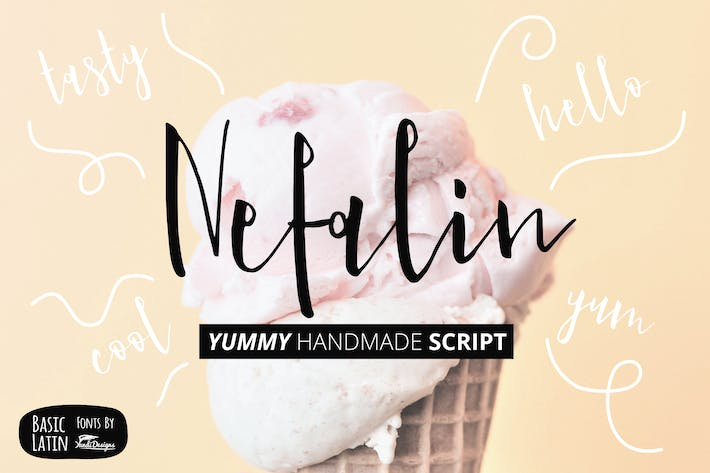 Thumbnail for Nefalin Yummy Font