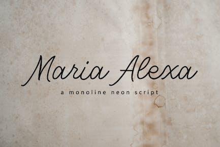 Maria Alexa - Elegant Handwritten Font