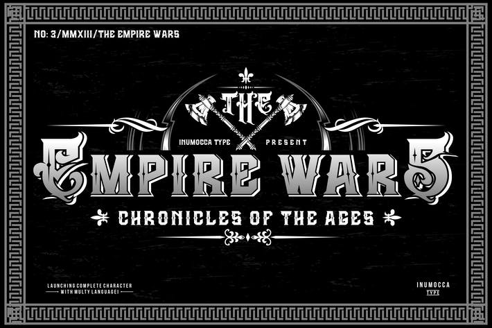 Thumbnail for The Empire Wars (family font)