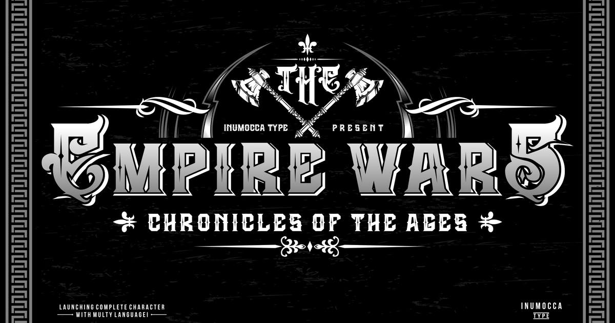 Download The Empire Wars (family font) by inumocca