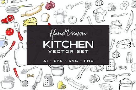 Küchenset - Handgezeichnet